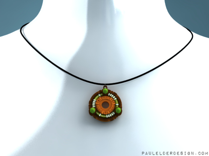 TR Scion pendant 3d printed Model on my virtual necklace display