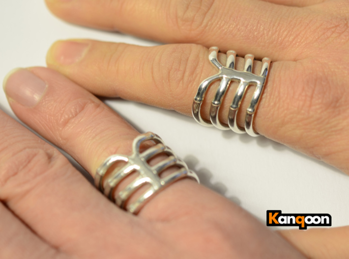 Thorsten 4 Rib - Ring 3d printed Polished Silver