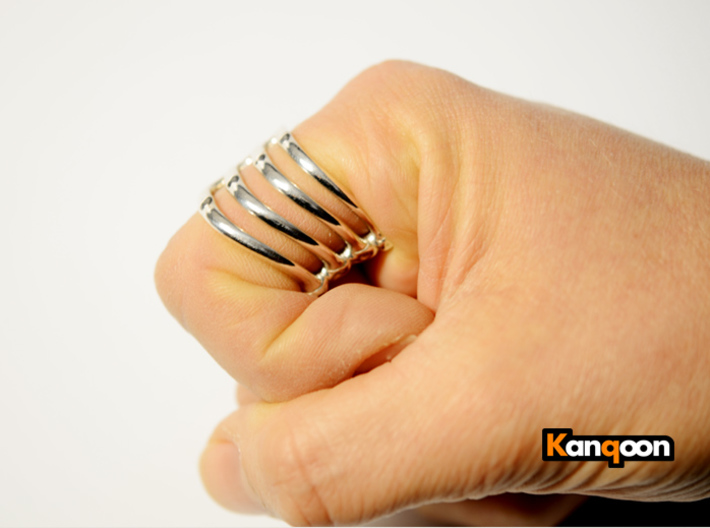 Thorsten 4 Rib - Ring 3d printed Polished Silver printed in US 9.75