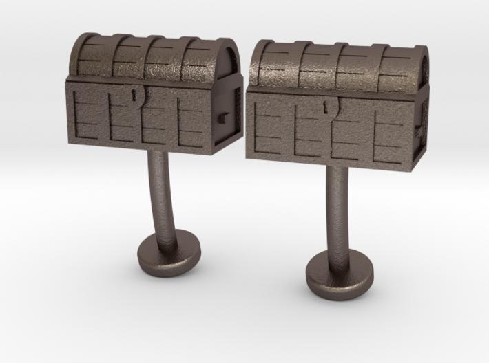 Tresure Chest cufflinks 3d printed