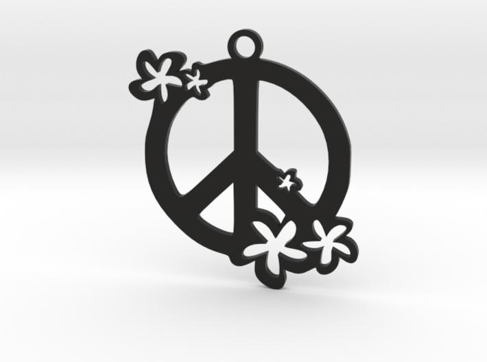 Peace Flowers Pendant 3d printed