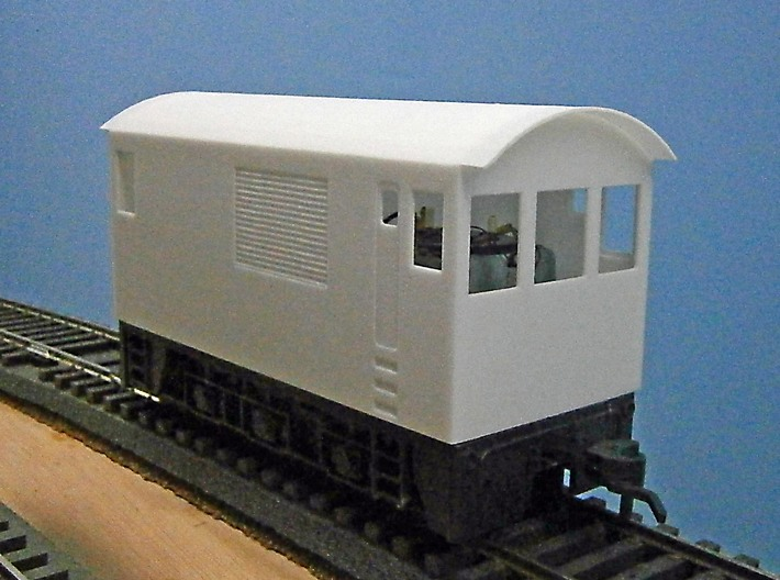 O Scale Critter Body 3d printed Front View of Body on Chassis