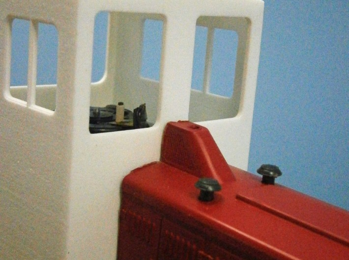 F Scale critter cab 3d printed Detail Showing Where to Cut the Body
