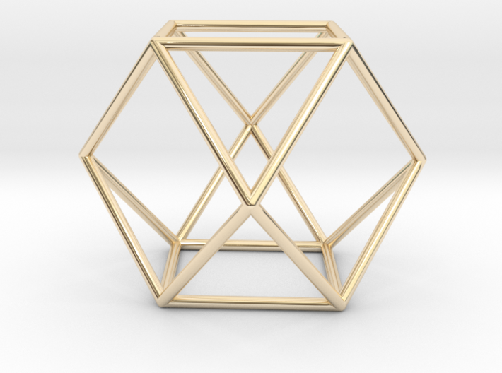 Vector Equilibrium - Cuboctahedron 40mm Sacred Geo 3d printed