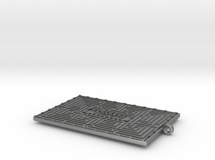 The Shining Maze Pendant 3d printed