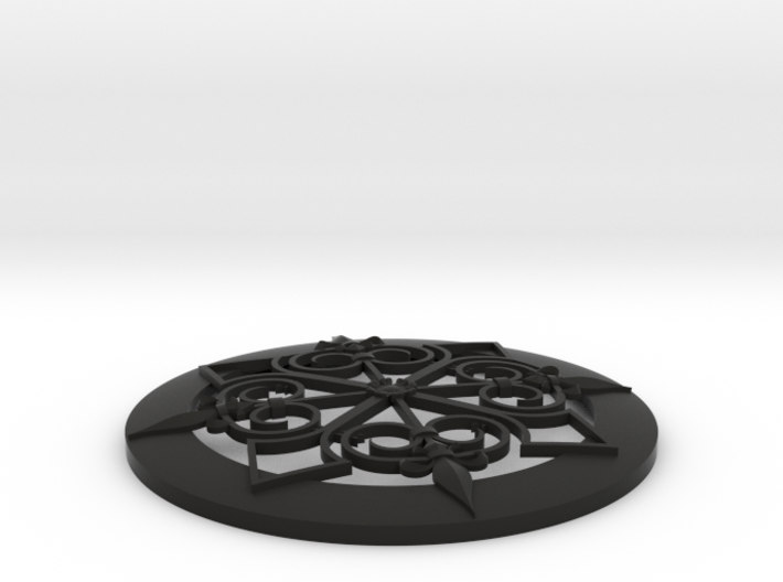 4 Inch Baroque Grill Stl 3d printed