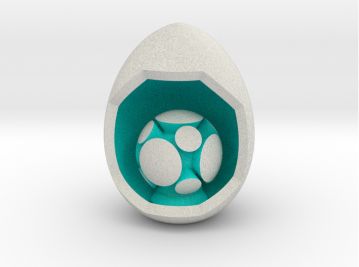 LuminOrb 2.5 - HARMONY 3d printed Shapeways render of HARMONY on a matching color Egg Display Stand (optional)