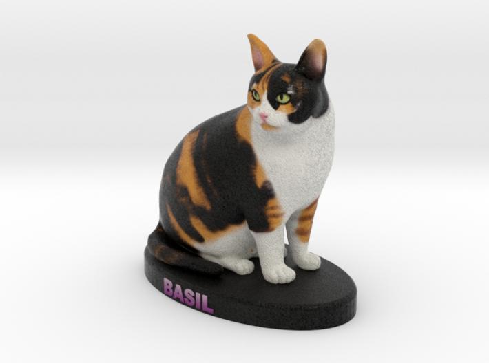 Custome Cat Figurine - Basil 3d printed