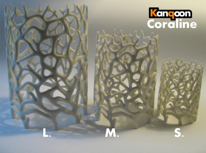 Coraline M.   -  12,4 cm / 4,9 inch high 3d printed Other Sizes:    Coraline S. / Coraline M. / Coraline L.     printed in Sandstone