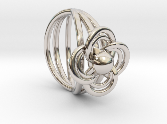 FlowerRing Size 53 3d printed