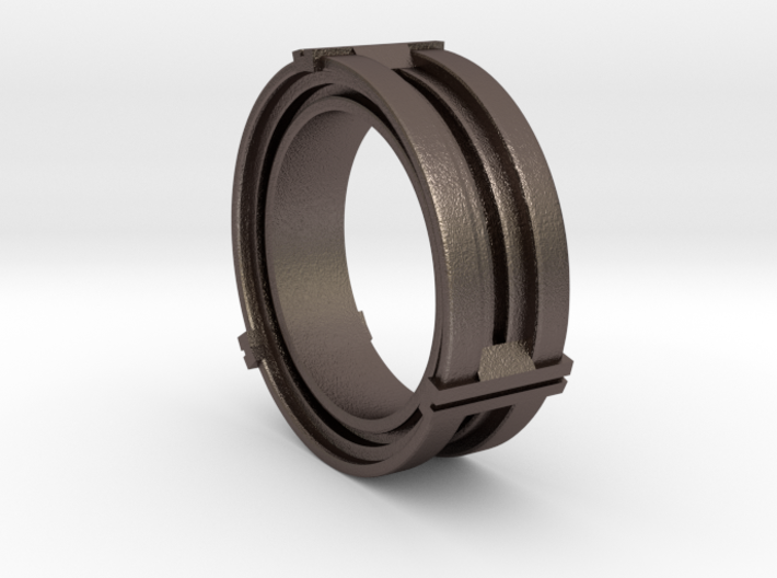 Daletox ring (Size 10) 3d printed