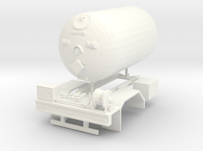 1/50th Propane single Axle delivery truck body 3d printed