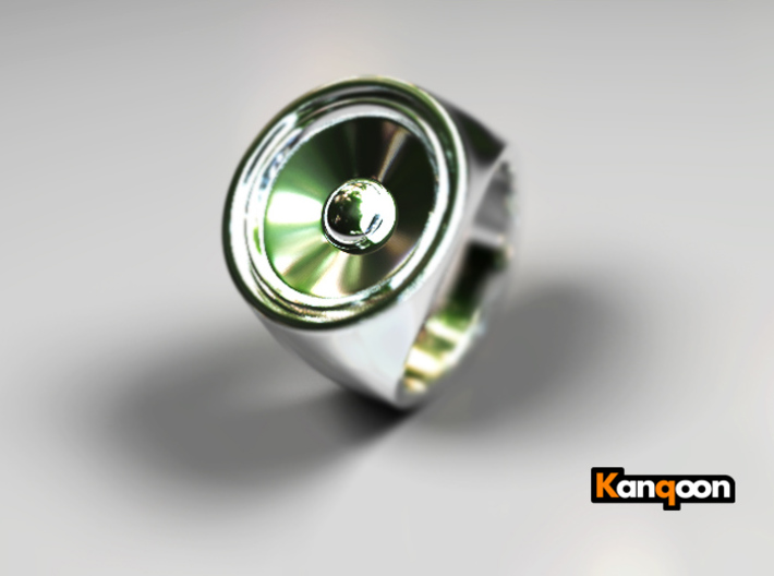 Screaming Sister - Signet Ring  3d printed Premium Silver preview