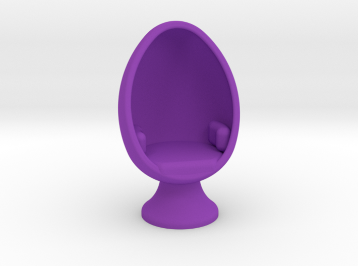 Charming SciFi Egg Chair, 1:64 Scale 3d Printed