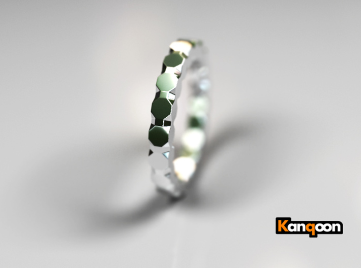 Kaethe - Ring 3d printed Polished Silver PREVIEW