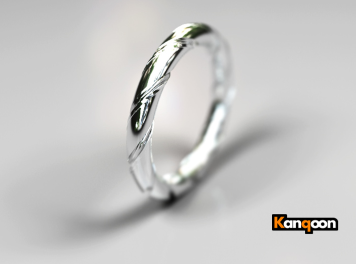 Bernd - Ring - US 7.25 - 17.5mm inside diameter 3d printed  Bernd - Ring - US 7.25 - Polished Silver Preview
