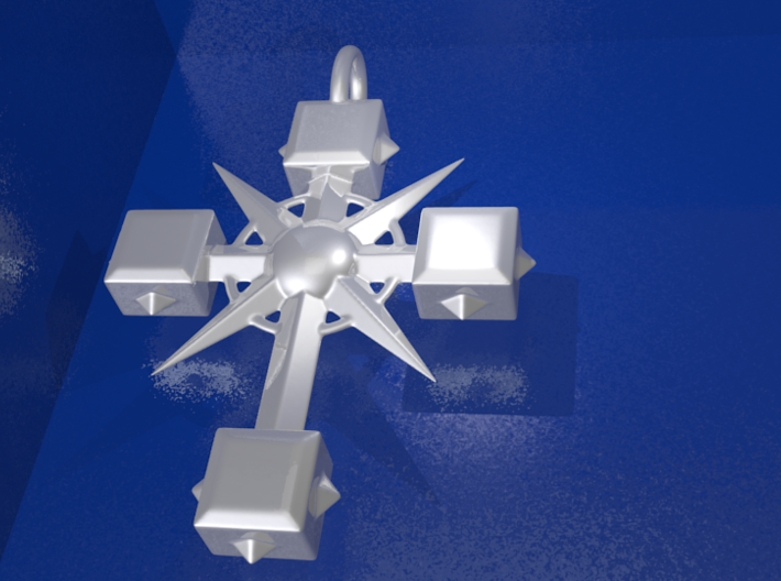 Pendant Cross And Spikes 01 - MCDStudios 3d printed Add a caption...