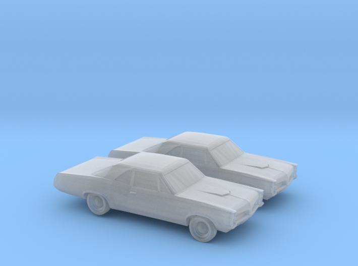 1/160 2X 1967 Pontiac GTO 3d printed