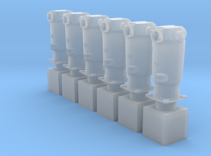 1/32 Mercedes D.III Cylinders (hollow) 3d printed