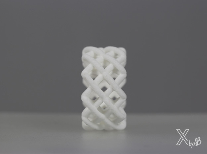 Cross-Stitches Ring 8.7 3d printed Cross-Stitches Ring front view