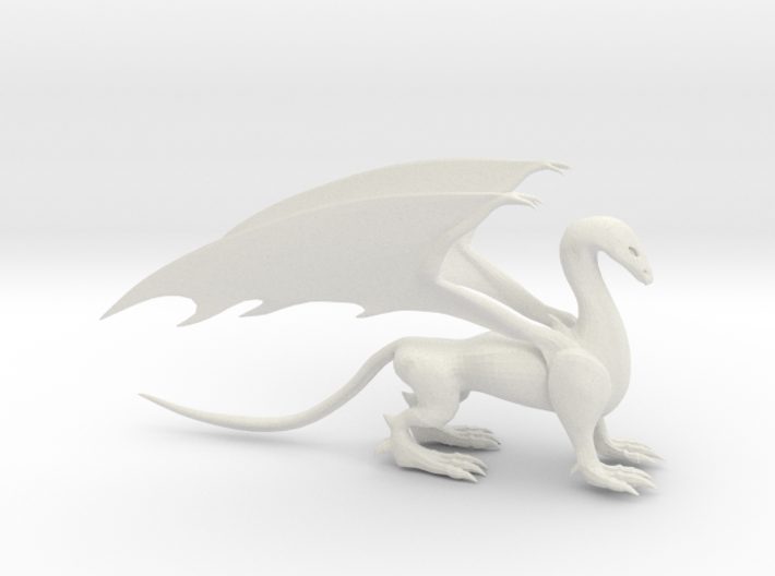 Dragon with wings 3d printed