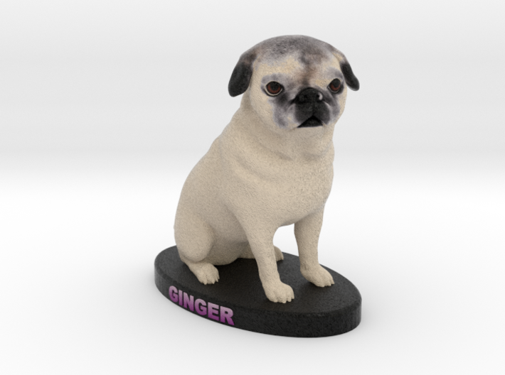 Custom Dog Figurine - Ginger 3d printed