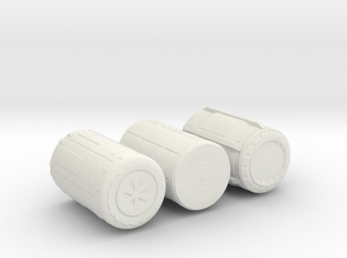 sci fi Barrels 3d printed