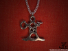 Korpiklaani Inspired Shaman Necklace 3d printed Korpiklaani polished silver Necklace