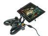 Xbox 360 controller & Asus Fonepad 7 FE375CL 3d printed Side View - A Nexus 7 and a black Xbox 360 controller