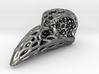 Voronoi Raven Skull 3d printed