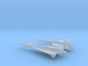 1/285 NAA X-15 + X-15 DELTA WING ROCKET PLANES 3d printed