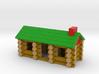 """Miniature Log Cabin (3-1/2"""") 3d printed"""