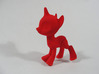 SMALL Pony: BJD Unicorn  3d printed wsf dyed in red from shapeways
