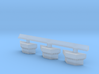 1:350 Scale Nimitz Class Conflag Station 3 Pack 3d printed