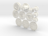 Claustro Tokens (12 pcs) 3d printed