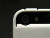 """Cariband case for iPhone 5/5s, """"holds stuff"""" 3d printed White Strong & Flexible POLISHED, Back, camera detail"""