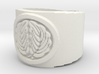 Kashiwa Mon (Japanese Family Crest) Ring Size 10.5 3d printed