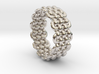 Wicker Pattern Ring Size 9 3d printed