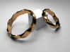 Twisted Ring - Elegant  - Size 7  3d printed