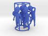 6 pose small figures kit 3d printed small figures