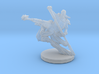 Martial Artist Flying Kick 3d printed