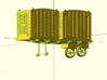 PRR Container Trailer in S scale 3d printed
