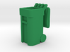 Trash Cart 64 gal Lid Open- HO 87:1 Scale 3d printed