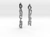 "Earrings - ""Dancing Queen"" 3d printed"