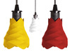 Flores de pin - Lamp 3d printed Flores de pin – lamp in red, yellow & white