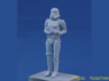 Stormtrooper in position of Attention 3d printed Thanks toKoschrei, model with primer coat.