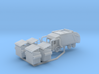 Garbage Truck Z Scale Revised 3d printed Garbage truck and dumpsters Z scale