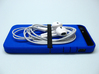 """Cariband case for iPhone 5/5s, """"holds stuff"""" 3d printed Royal Bue Strong & Flexible Polished, with headphones"""
