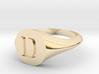 Letter D - Signet Ring Size 6 3d printed
