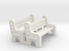 Street Bench 'O' 48:1 Scale Qty (2) 3d printed